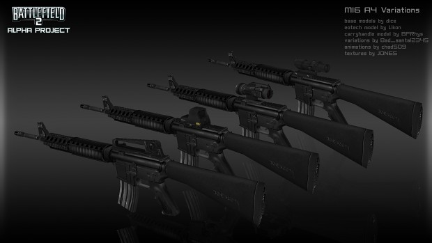M16 A4 Variations