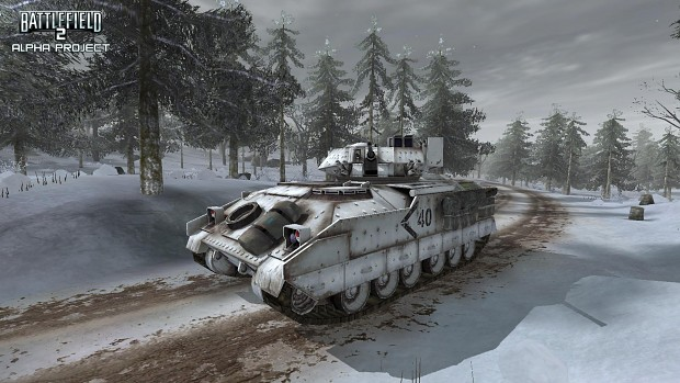Winter Town Ingame and M2A2 Bradely