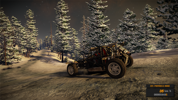 Buggy In Snowy Forest