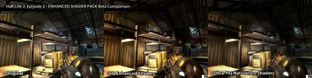 Half-Life 2 EP2 - HQ & UHQ Shader Pack Comparison