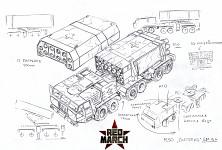 Soviet MLRS Snowfall concept-art
