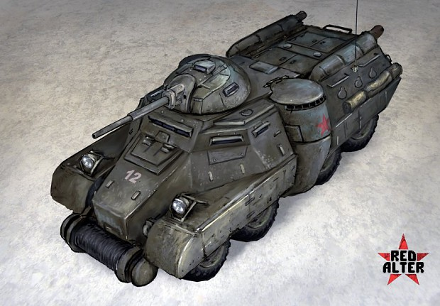 Soviet light APC colored concept-art