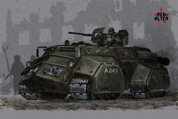 Soviet heavy APC colored concept-art