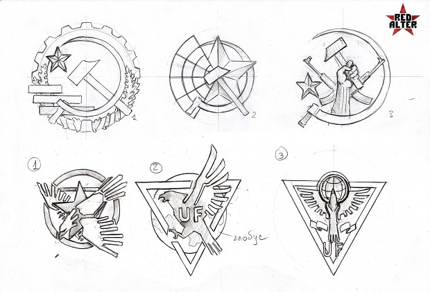 Other variants of the factions logos