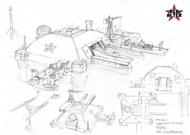 Soviet shipyard