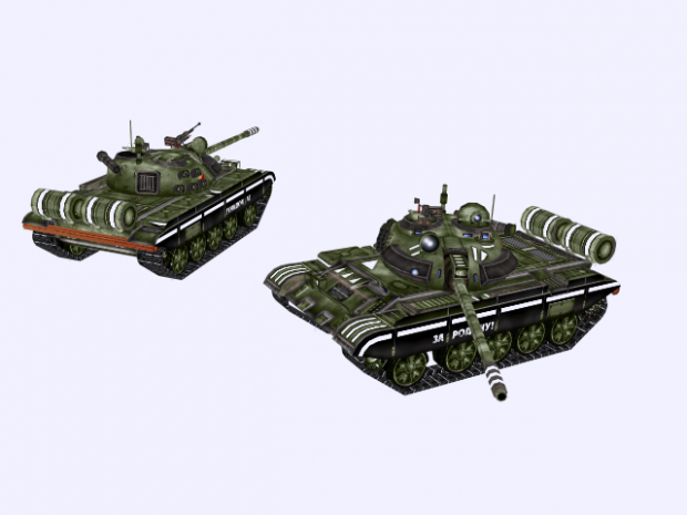 Soviet War-factory, T-55 and PT-76