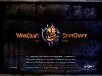 Loading screen for Warcraft vs Starcraft Beta