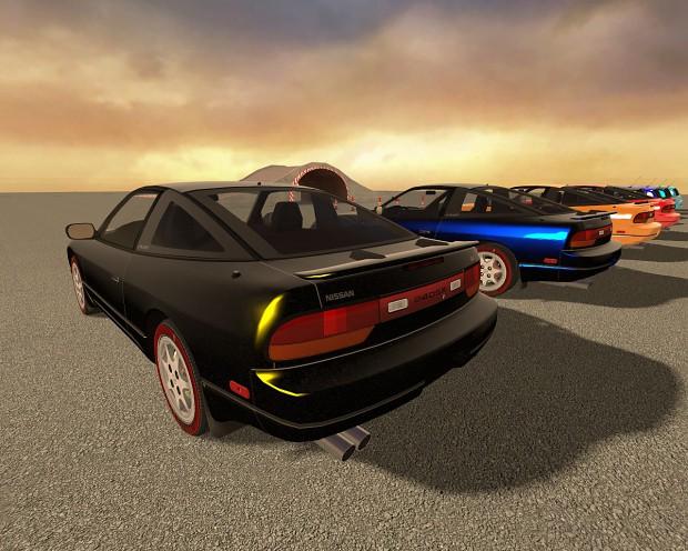Nissan 240SX & Renault Clio Sport Ingame Test
