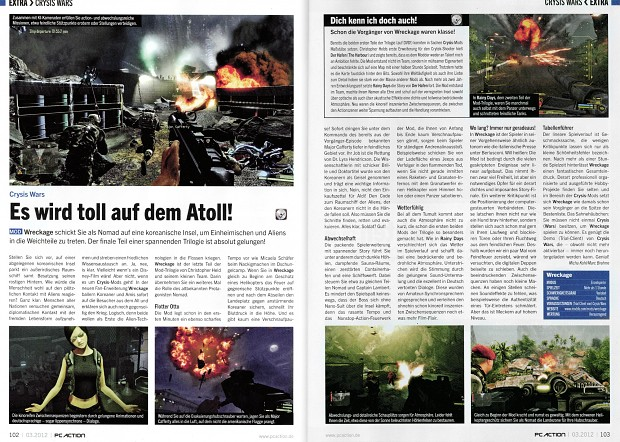 Wreckage - PC Action article