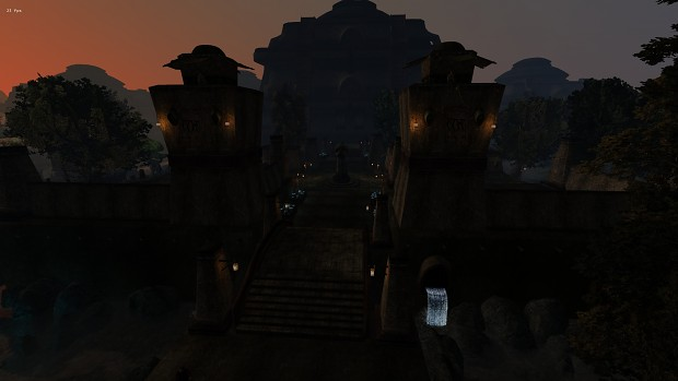 Vivec at night