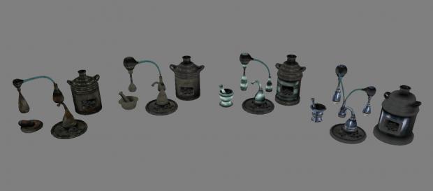 Texture tweaks for alchemy equipment