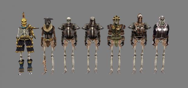 Skeleton Warrior variations + Skeleton Champion