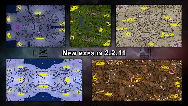 New maps in 2.2.11