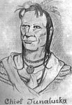 The Cherokee leader, symbol, and map