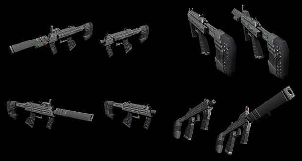 SMG and Silenced SMG - Textured