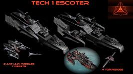 Tech 1 Cybran Escorter.