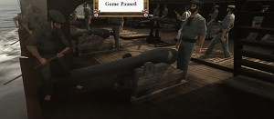 New ship crews and period naval cannons