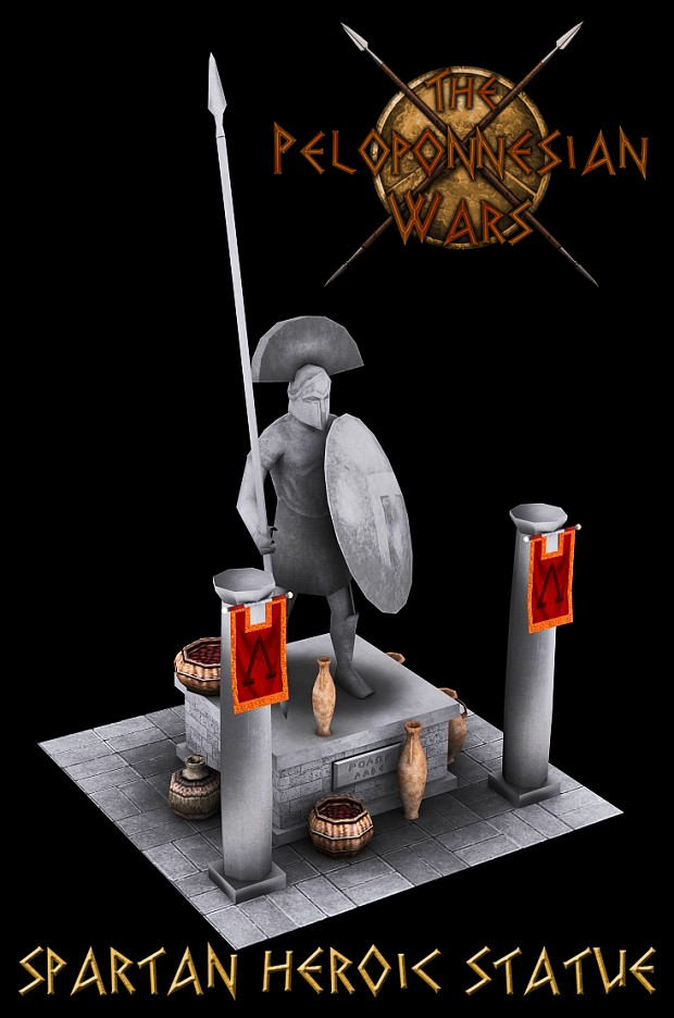Spartan Heroic Statue