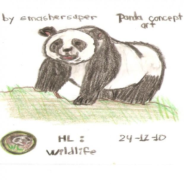 Adult panda concept art