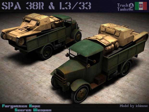 SPA 38R with L3 tankette