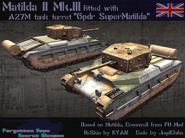Matilda II with Cromwell turret
