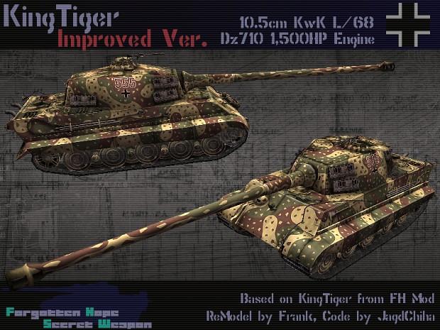 Kingtiger with 105mm