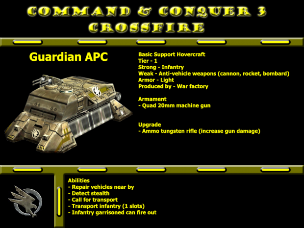 GDI Guardian APC new look