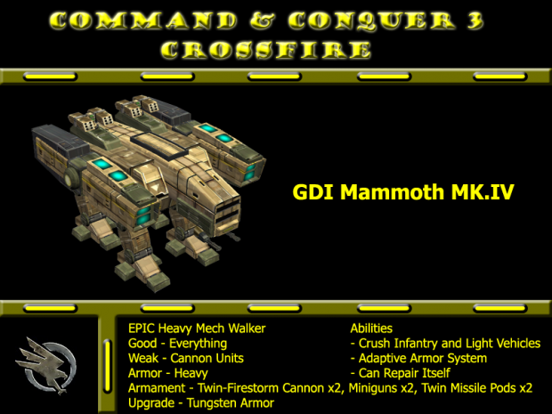 Remake Model GDI Mammoth MK.IV