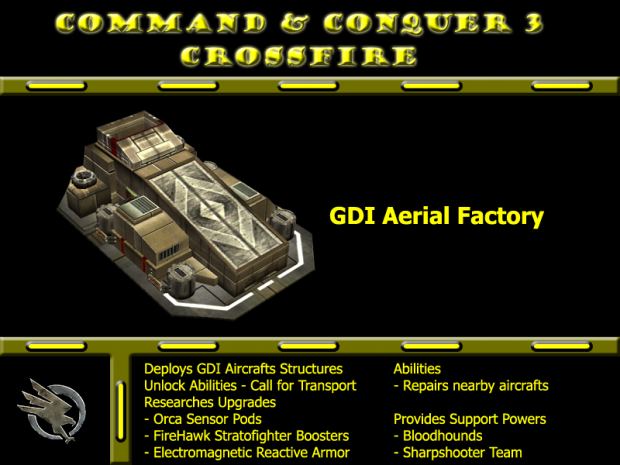 Remake Model GDI Aerial Factory (Version 2)
