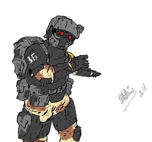U.D.C Heavy Infantry Concept