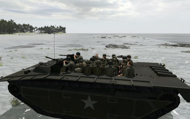 In game screenshots from Hell in the pacifc mod