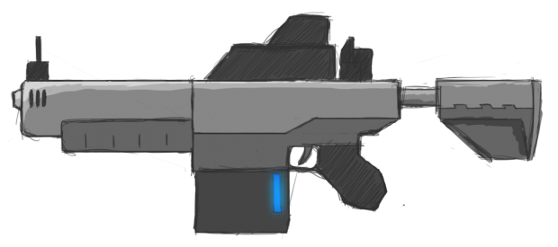 Bolter rifle - Concept Art