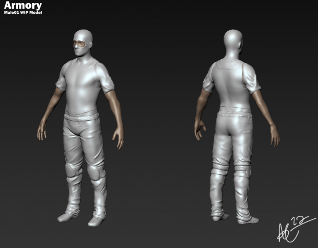 Male01 WIP Player Model