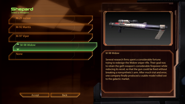 Widow Sniper Rifle Revisions