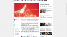 Facebook to buy Phoenix Interactive