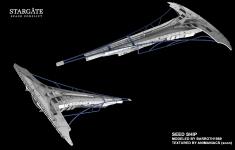Seed ship modeled
