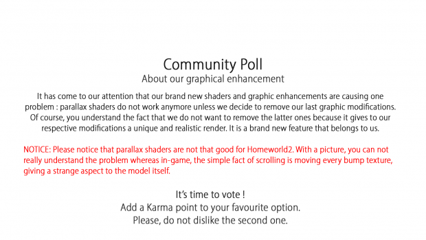 Community Poll - Unique graphics or not ?