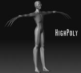 High-Poly Test of Slenderman