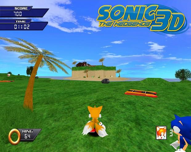 Sonic the Hedgehog 3D screenshots.