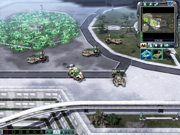 The Sandstorm and Shockwave units