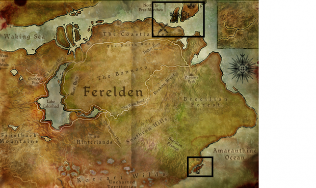World map image - The lost fortress mod for Dragon Age ...