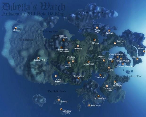 Map of Dibella's Watch Beta 03