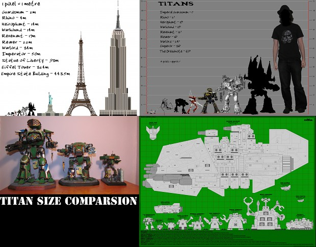Titan Size Comparsion Compilation