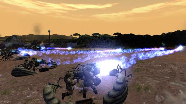 Heavy weapon team plasma cannons