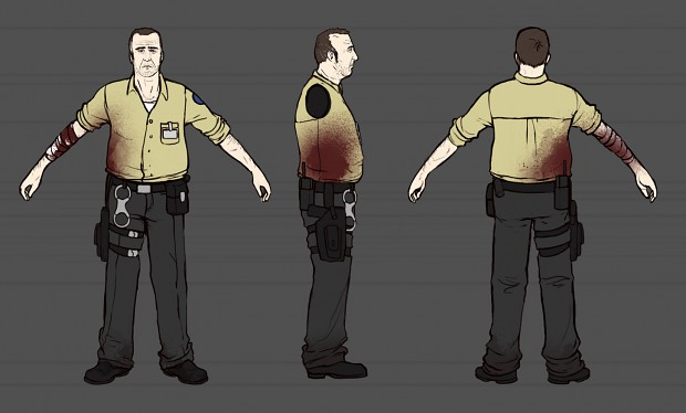 LaB Character Concept Art: Prison Guard Kelly image - Life's