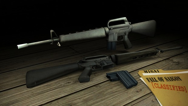 Weapon renders