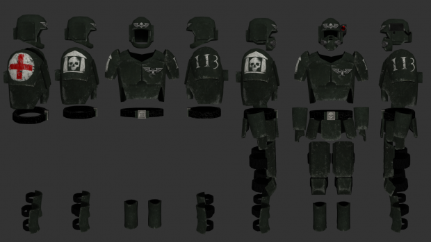 Imperial Guard flak armor and Carapace armor