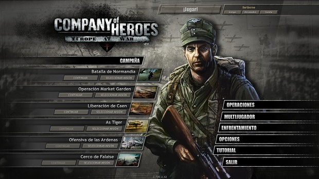 Ardennes Offensive in main menu