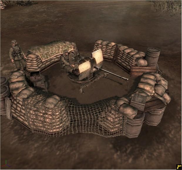 Flak38 emplacement (Panzer Elite)