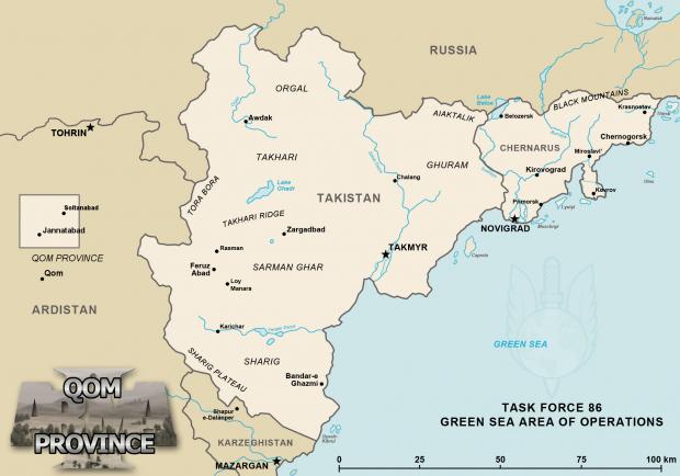 Arma 2 Regional Map
